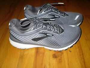 Men's Brooks Ghost 12 Grey Mesh Cushion Neutral Running Shoes Size 11D