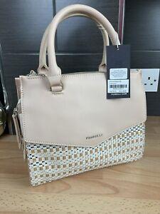 Bnwt Rrp £79 Fiorelli Mia Nude Weave Grab Bag Handbag 3 Compartment New