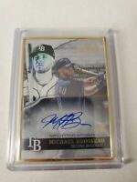Michael Brosseau 2020 Topps Gold Label Rc Framed Auto #GLA-MB Tampa Bay Rays