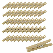 7Penn Wood Clothes Pin 50-Pack Pins Wooden Clothespins Laundry Clothesline Clips