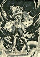 MARVEL Comics JANE FOSTER THOR Original Art WAR OF REALMS THANOS AVENGER ENDGAME