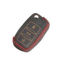 3 Boutons Clé à clé cuir à télécommande pour porte clés Volkswagen Housse
