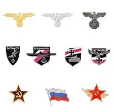 10pcs Lot Pins Badge WW1 WW2 German Russia Flag Military Eagle Luftwaffe Replica