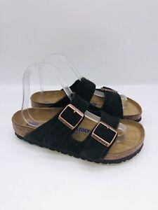 Birkenstock WMN Arizona Double Strap Regular Fit Soft Footbed Sandal Mocha US 7