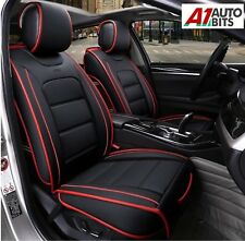 Toyota Corolla Avensis Auris Front Seat Covers Deluxe Black PU Leather Padded