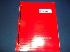DYNAPAC CA121 CA141 VIBRATORY COMPACTOR OPERATION & MAINTENANCE BOOK MANUAL