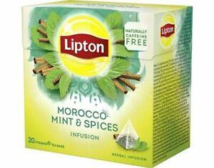 120x Lipton Tea Morocco Mint = 120 Pyramid Tea/Infusion (6 Boxes x 20 Tea Bags)