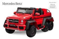Mercedes G63 AMG XXL SUV JEEP Elektroauto Kinderauto Kinderfahrzeug 6x6 12V Rot