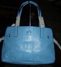 "Authentic Coach 21938 Signature ""C"" Perforated Leather Handbag. Sky. NEW."