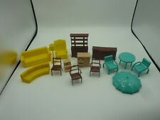 Vintage Marx Plastic Dollhouse Doll House Furniture Living Room Lot Set  A4