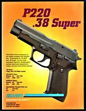 1995 Sig P220 .38 Super Pistol Print Ad Sigarms Advertising Page