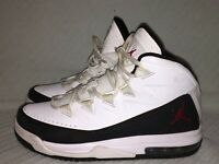 YOUTH SIZE 6Y Nike Jordan Air Deluxe BG White/Gym Red-Black Sneakers 807718-101