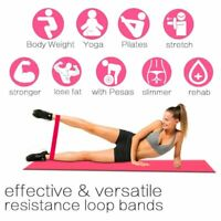 Women Portable Loop Rubber Gym Fitness Exercise loop Yoga Resistance Band Pilate
