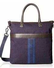 New Salvatore Ferragamo Men's Manderson Striped Logo Tote Bag