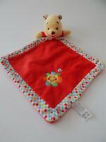 Posh Paws Disney Winnie the Pooh bear red baby comforter soft toy blankie