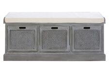 Heritage 3 Drawer Slate Grey Storage Bench