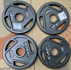 "10 lb CAP Olympic 2"" Weight Plates Set (4x) 40 lbs Total-NEW-FREE PRIORITY SHIP"