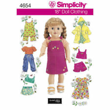 Casual Fun clothes PATTERN Simplicity 4654 Sporty Skort Tank fits AG 18inch doll