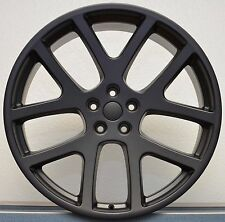 "22"" Staggered Viper Wheels Satin Black 300 Charger Challenger Rims Set of 4 NEW"