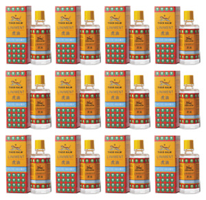 12 x 28ml. TIGER Balm Liniment Oil Massage Muscle Pain Relief