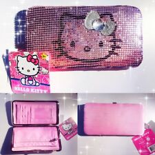 FAB Starpoint Girls 7-16 Hello Kitty Metal Mesh Frame Long Wallet Pink one size