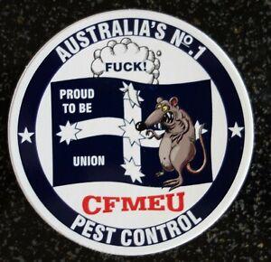 CFMEU UNION PEST CONTROL STICKER