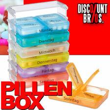Tablettenbox PILLENBOX 7 Tage 4 Fächer – Medikamentenorganizer für eine Woche