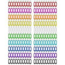 200 Pcs 10 Color Key Tag Plastic Coded Id Label Split Ring Keyring Window Holder