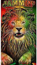 "Jamaican Jammin Leo Lion 30""X 60"" Beach Towel 100% Cotton Towel"