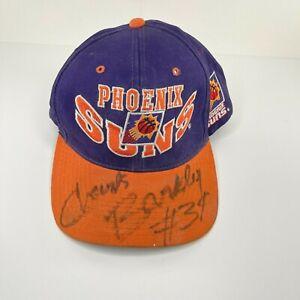 Charles Barkley Large Autograph on Vintage Phoenix Suns Hat - The G Cap