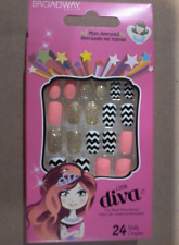 Kiss False Nails Press-on- Broadway Little Diva Nails BRAND NEW and FRESH STOCK