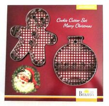 BIRKMANN German Christmas Ornament & Gingerbread Man Cookie Cutter Set of 2 NEW