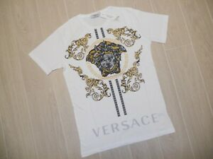 White T-Shirt Versace Medusa, Size XL, Cotton