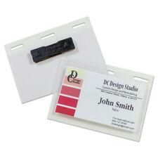 C Line 92823 20 Pcbx Magnetic 3 Self Laminating Name Badge Holder Kit Clr New