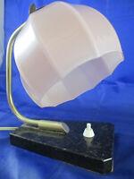 Vintage Kultige 30er Jahre Nacht_Tischlampe Lampe Leuchte Blumenkelch Marmor