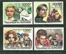 BURUNDI 951-54 MNH FILM LEGENDS SCV 12.50