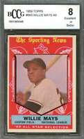 Willie Mays Card 1959 Topps #563 As San Francisco Giants BGS BCCG 8