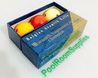 REAL Billiard Ball Set 2 & 1/16 inch Aramith Pro Cup MEASLE Spot Tournament Set