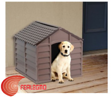 DOGHOUSE KENNELS CRIB FOR DOGS DOG RESIN 71X71X68H BEIGE/BROWN ART.88942