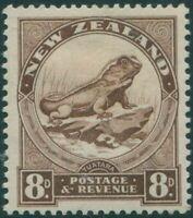 New Zealand 1935 SG565 8d chocolate Tuatara Lizard MLH