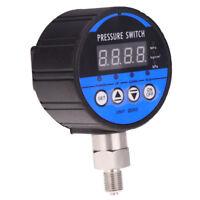 0-60Kpa 80mm LED Digital Hydraulic Pressure Gauge Control Switch NO/NC Alarm