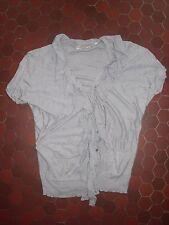 T-shirt gris avec volants femme ZARA taille M