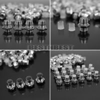 50 Stücke LED Halter 5mm Leuchtkappe Fassung Chrom Clip Beleuchtung Schraube Neu