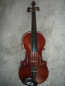 Alte Geige Violine tolles Holz Meister Herbert Otto Markneukirchen / Sa 1947