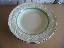 "4 Pope Gosser Dinner Ware Cream Yellow Soup bowls  POGOSSI Marked 8 "" 1929-30"