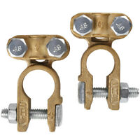 Top Post Brass Battery Terminals Connectors Clamp for Marine Car Boat RV Vehicle
