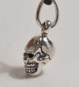 Silver 925 Skull Pendant Charm Steam Punk Gothic