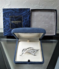 Pearl Figural Sterling Pin Brooch! Brand New $850 Breathtaking Huge Mikimoto