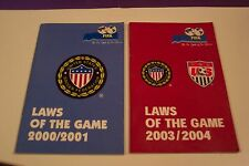 Futbol/Soccer---FIFA Certified LAWS OF THE GAME books (2) -- colored drawings