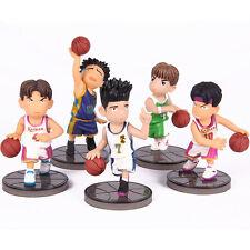 """Slam Dunk Shohoku PVC Toy  2.4"""" Figure Set Of 5 Sakuragi Rukawa Set.2"""
